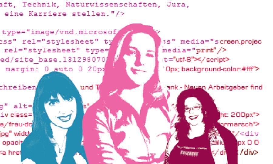 Bitte nicht pink! - Frauen in der IT. Illustration: Sonja Langner
